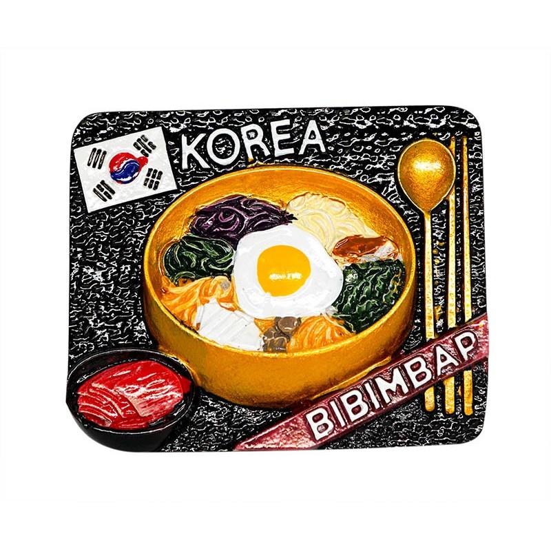 Kimchi Bibimbap Korea 3d Resin Fridge Magnet