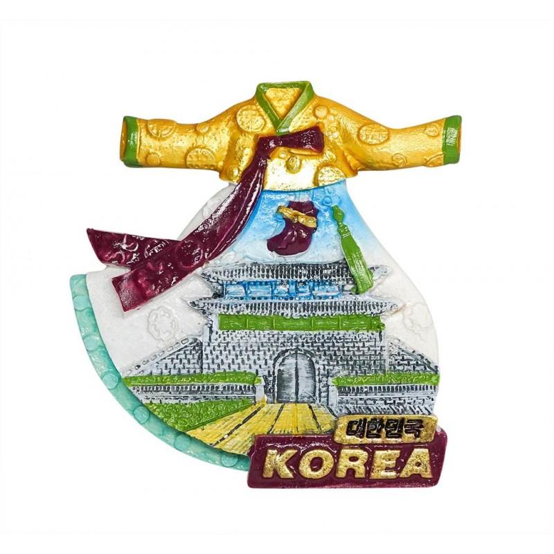 Hanbok, Korea - 3D Resin Fridge Magnet