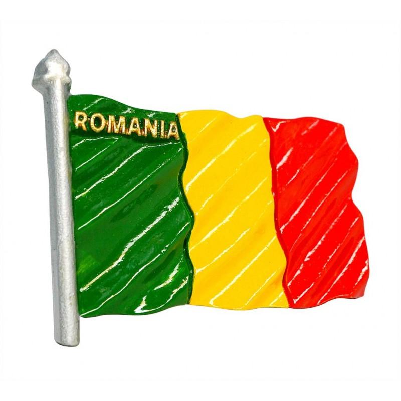 Flag of Romania - 3D Resin Fridge Magnet