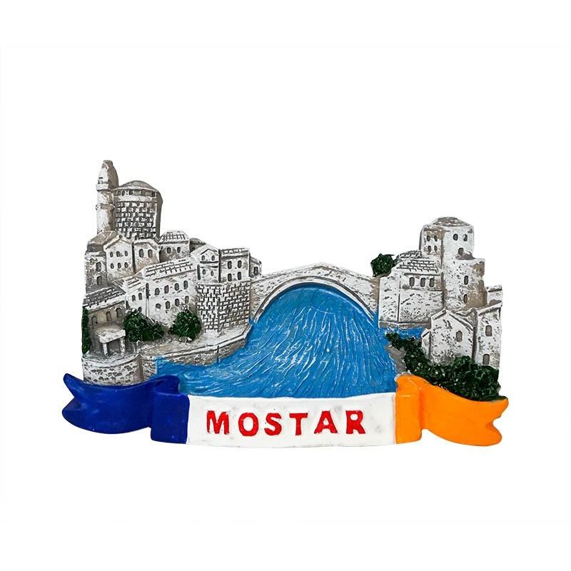 Old Bridge Area of Mostar, Bosnia and...
