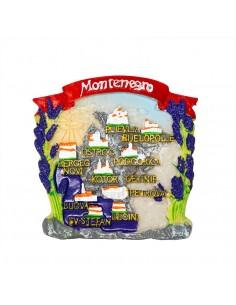 Map of Montenegro - 3D...