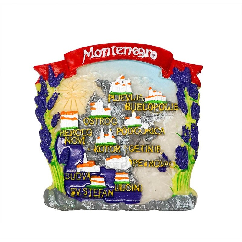 Map of Montenegro - 3D Resin Fridge...